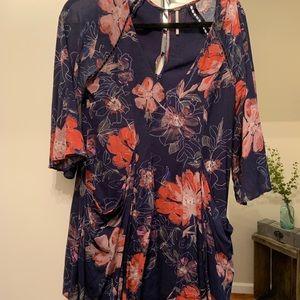 Free people mini flowy dress, size 4